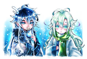 My boys in Winter by shrimpHEBY