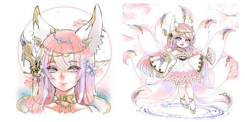 Kitsune Lady Extra Art