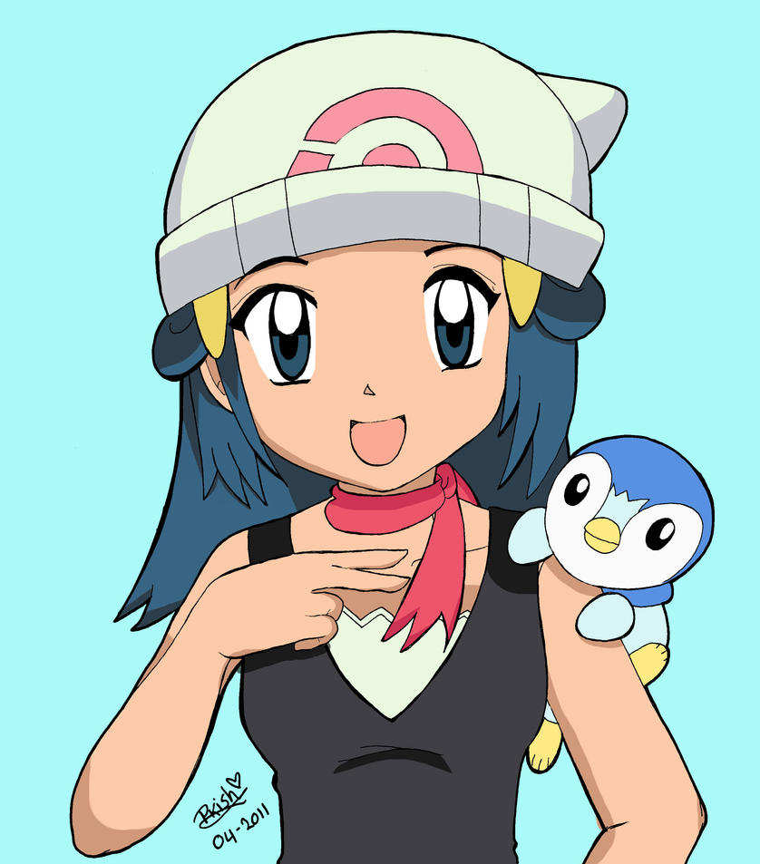 Pokemon Dawn: Dawn And Piplup By 23yukisosuke23 On DeviantArt