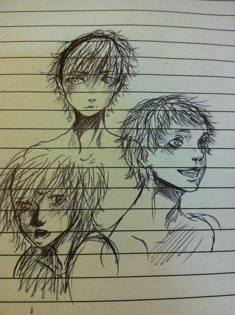 School scribbles by Hope-chan00