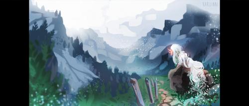 Melancholy Mountainside by Karijinni