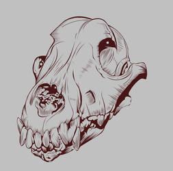 Dog Skull Vexel