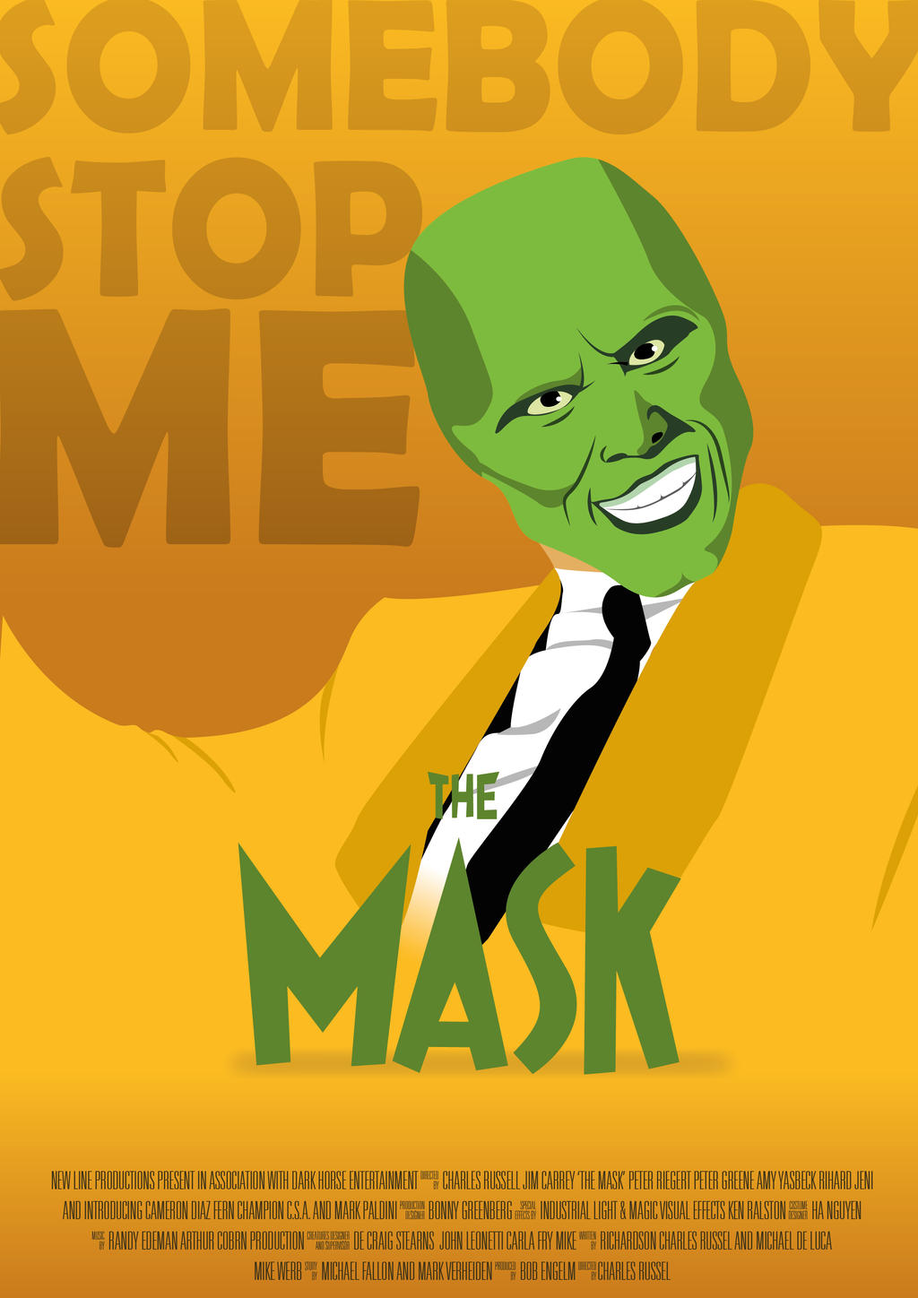 the mask movie poster by larshoffmans on deviantart