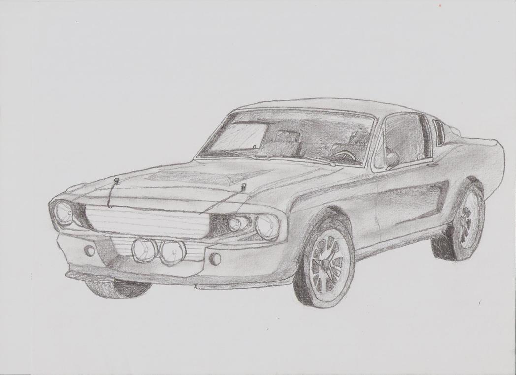 1967 Shelby Gt 500 Sketch By 0thejerk0 On Deviantart
