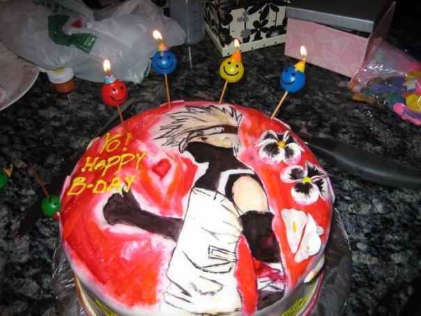Kakashi Birthday Cake by Battie-2170