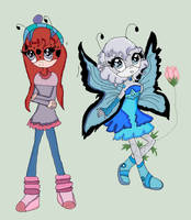 ...~Insect Buddies...~Shannon and Yulia by blissfulangel1994
