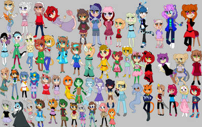 All my sonic chatacters set 1