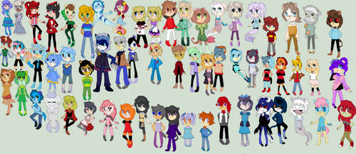 All My Sonic Characters Set 3