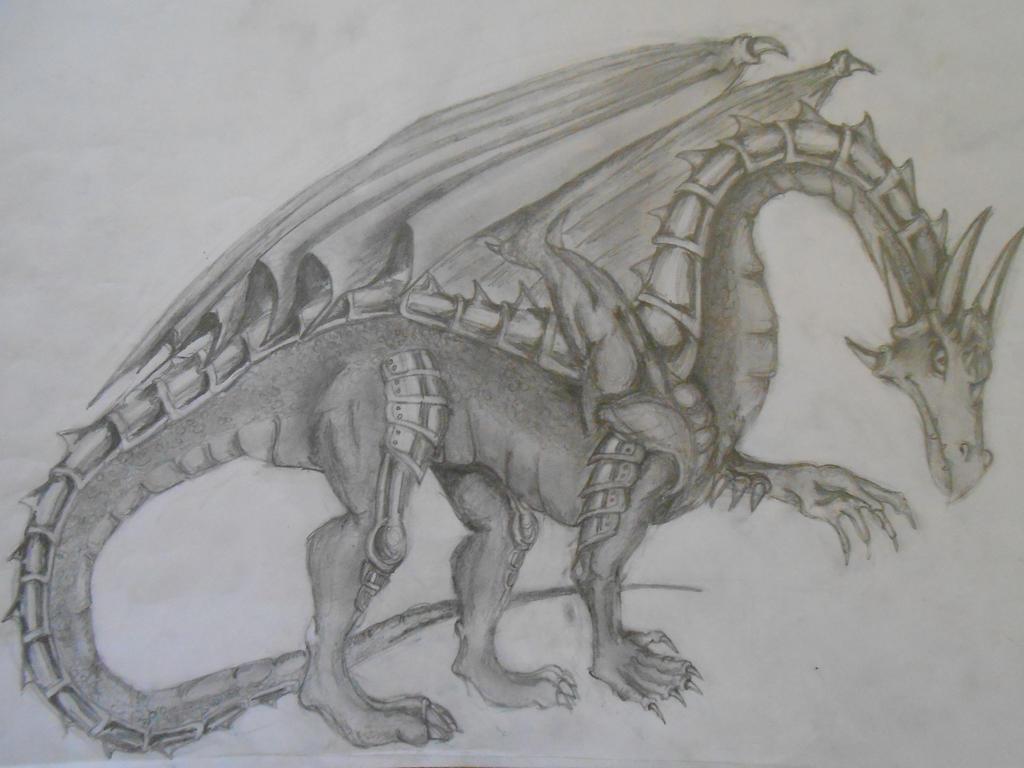 Traditional Dragon by Rhelna