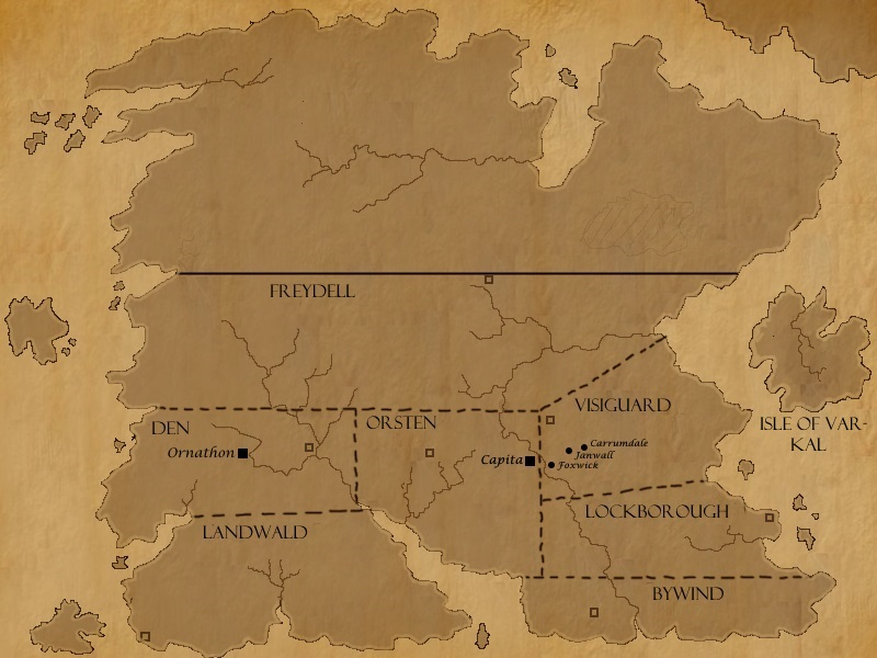 Map of Tol (The Plight of Magic) by Rhelna