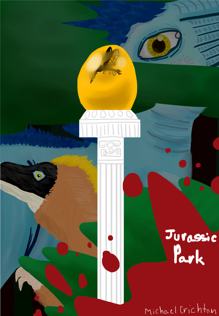 Jurassic Park [Book Cover] by MVFBattleEevee