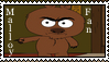 Brickleberry: Malloy Fan -Stamp- by Stitchlovergirl96