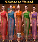 Sims2-Traditional Thai Dresses