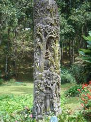 Wood carving at Bhubing Palace