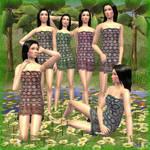 Siamese swimwears
