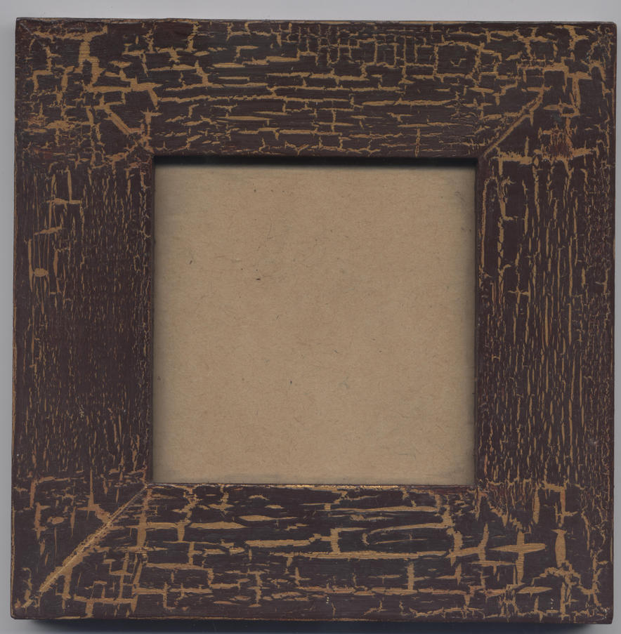 wooden frame with gold - STOCK by TeSiamese