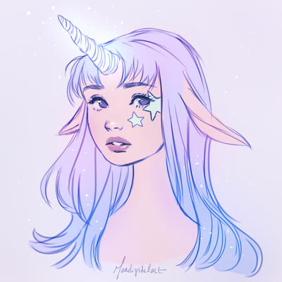 Unicorn Girl Drawing Ecosia