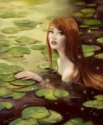 Study of Water Nymph by Mardigitalart