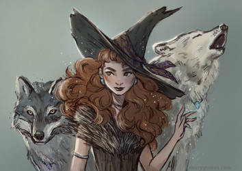Witch and her wolf Guardians