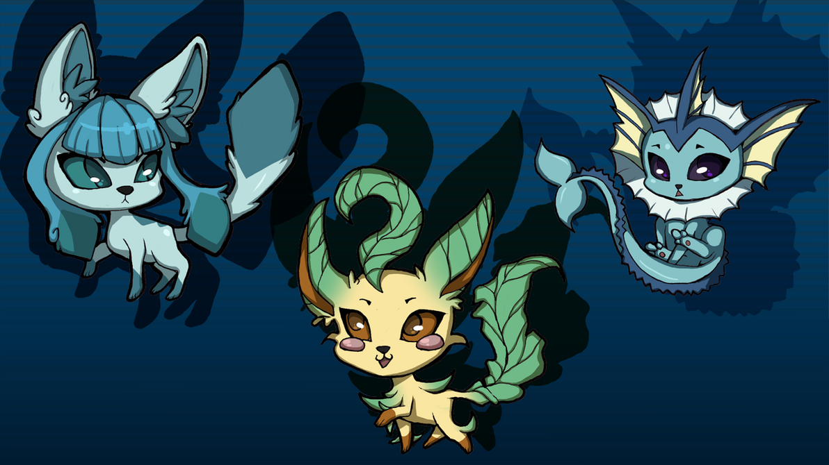 eeveelutions by KiraFan