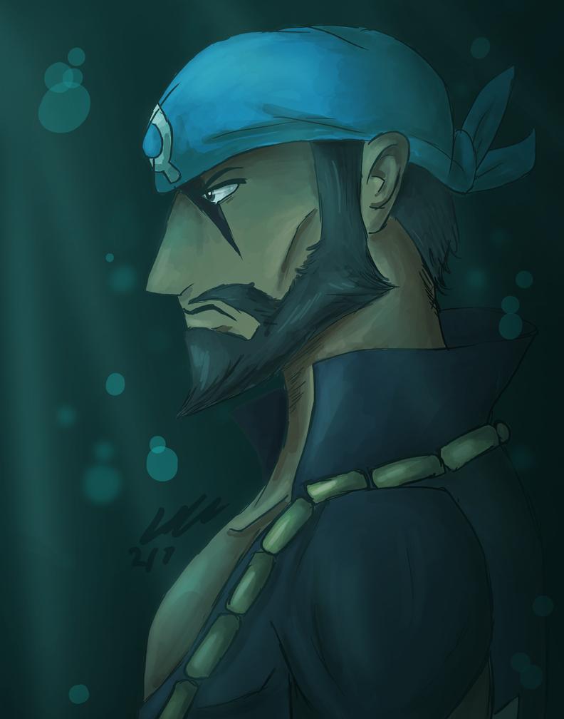 Team Aqua Leader Archie by DelightfullyFreaky