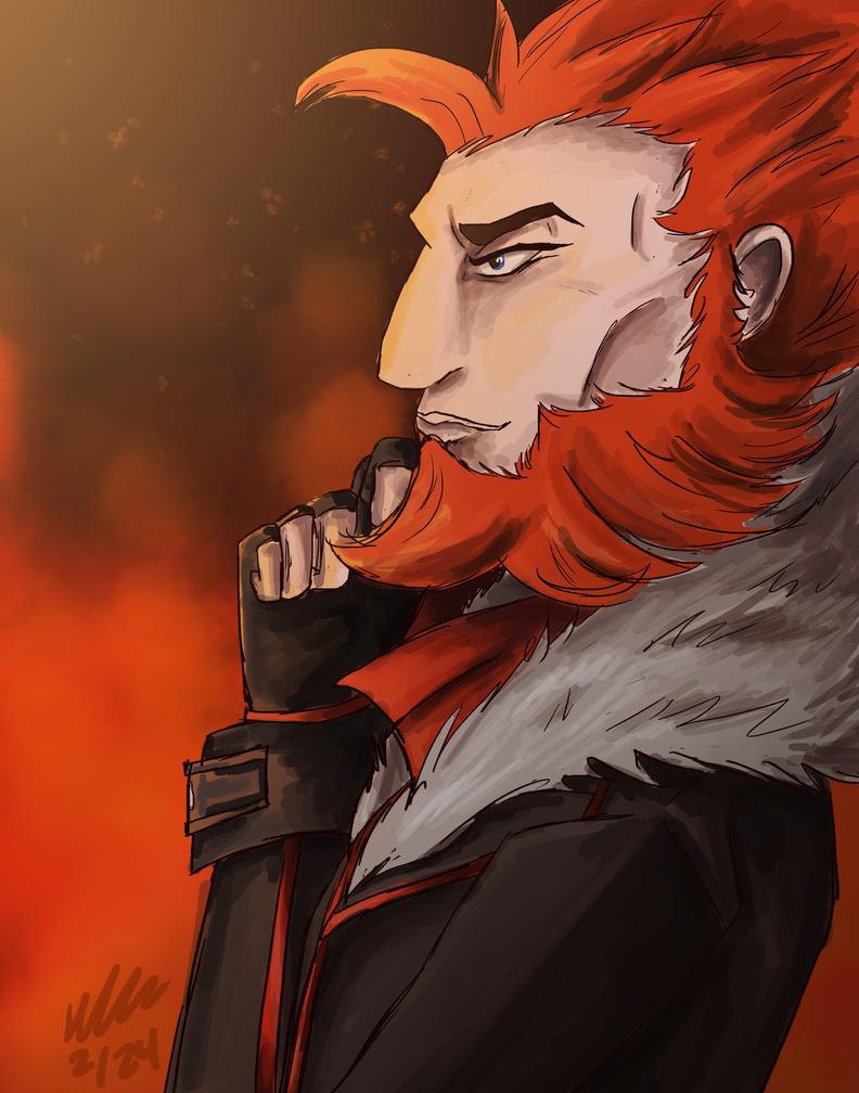 Team Flare Leader Lysandre by DelightfullyFreaky