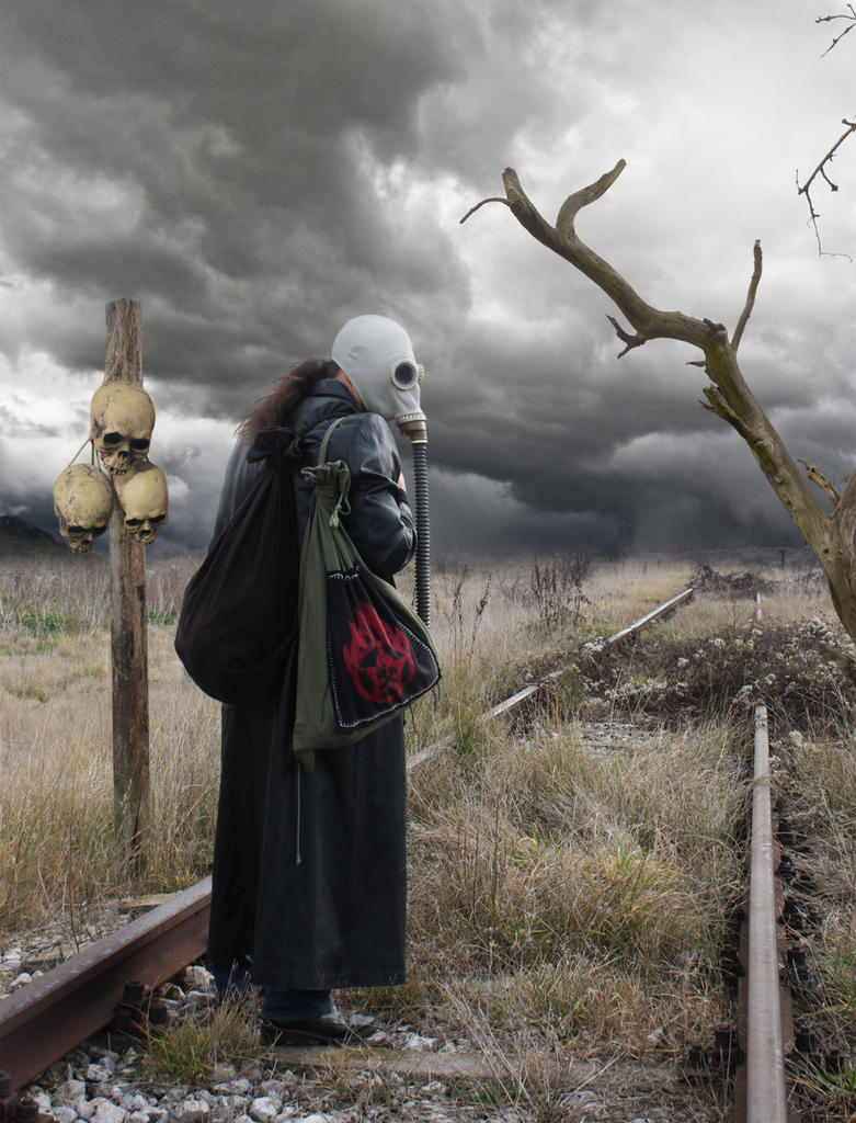 Post Apocalyptic Wanderer by Object---Collector