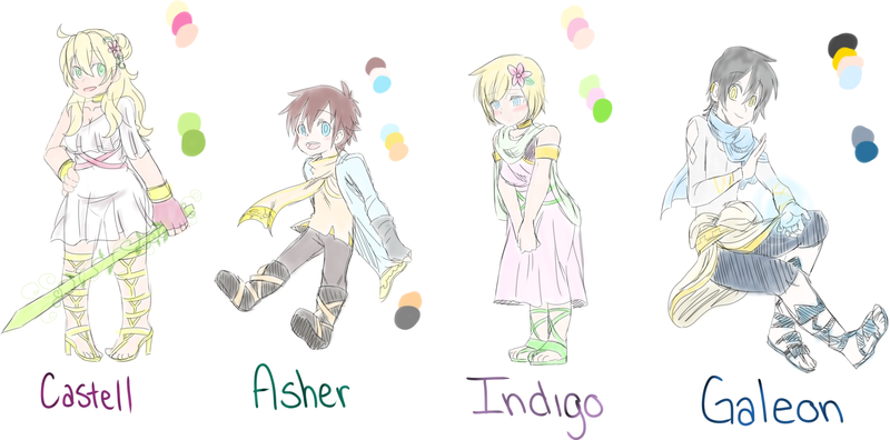 Character Chart 1 by breina