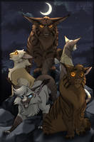 Warrior Cats: Happy little family meeting by K0rdi4n