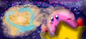 Kirby To Planet Pop Star DA Muro Drawing by TheArtistEntertainer