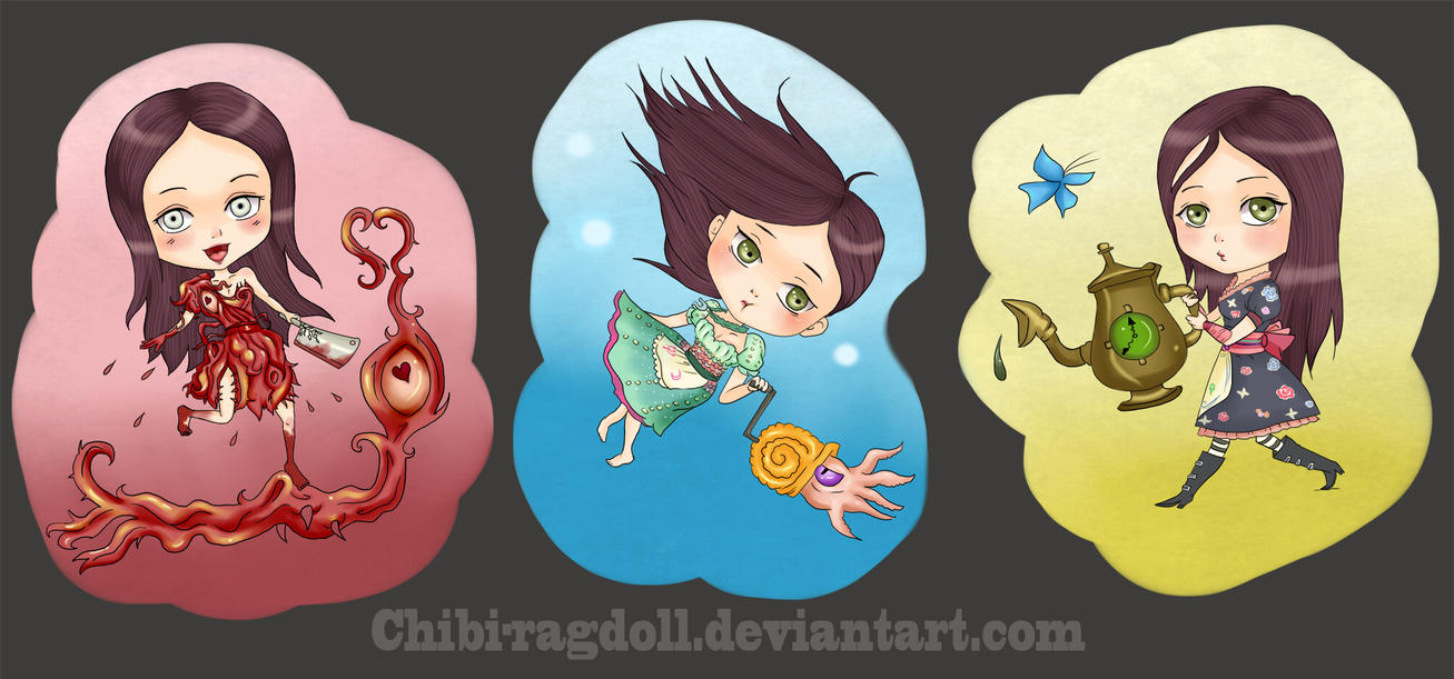 Alice Madness Returns Dresses Anime Alice s Dresses III by Chibi-
