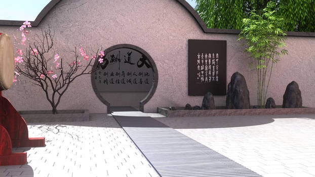 Chinese courtyard- stage dl
