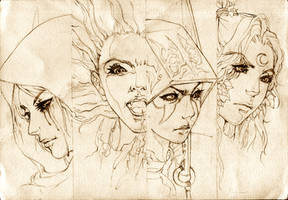 DOTA Allstars -  Four Powerful Heroins by KenshjnPark