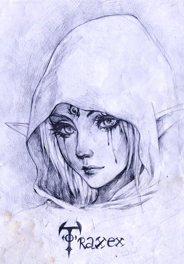 Daily sketch - Traxex Drow Ranger by KenshjnPark