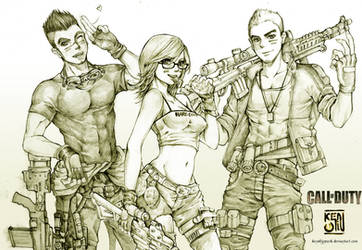 COMMISSION SERIES : CALL of DUTY characters