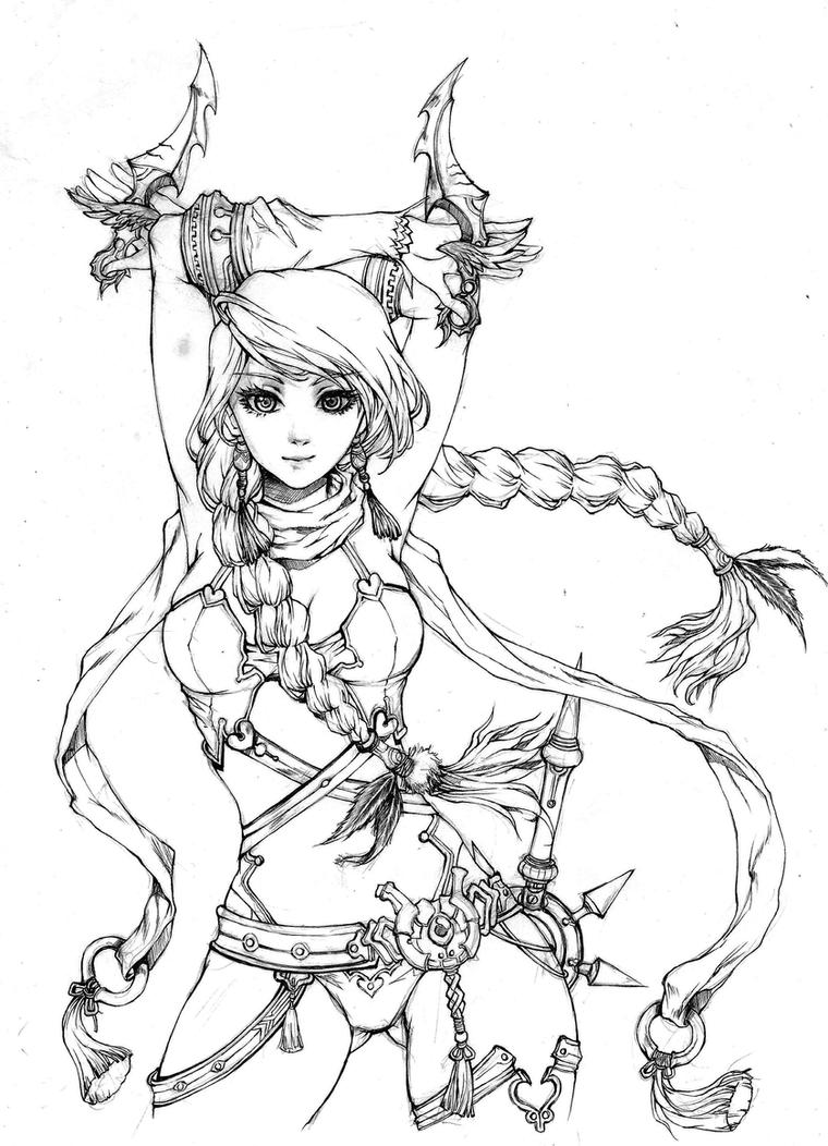 Flora of Thrune ( lineart) by KenshjnPark