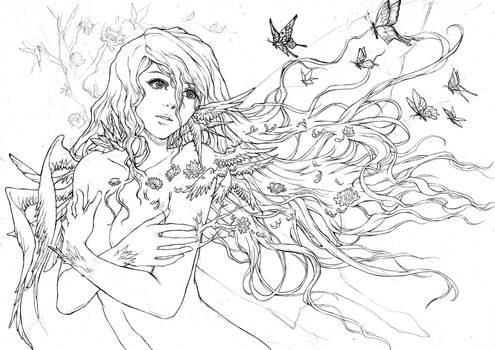 Lana - Lastnight's Fantasy (lineart)
