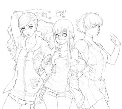 Girls Power _ Persona 5 fanart _sketch