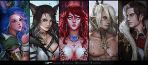 FFXIV Comission Samples _ Bust-up