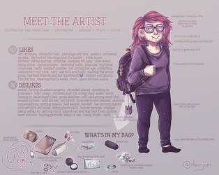 Meet the artist. by jamm3rs
