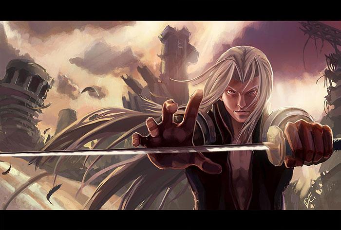 Sephiroth Fanart: Dawn by Zureul