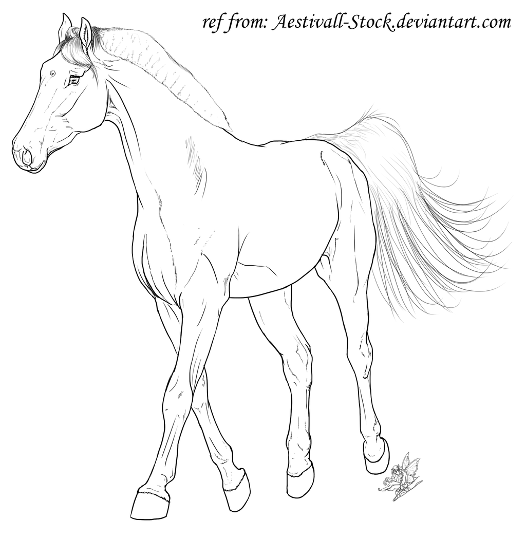 Free Trotting Horse Lineart by emmy1320 on DeviantArt