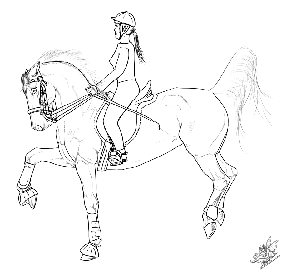 How To Draw A Horse Jumping With A Rider