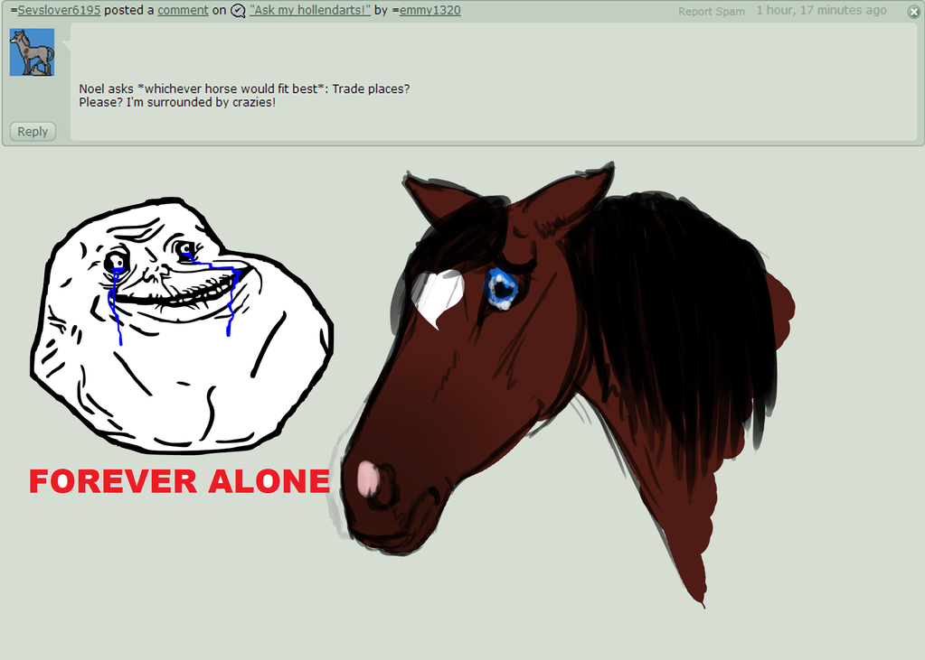 forever alone drawing by - photo #30