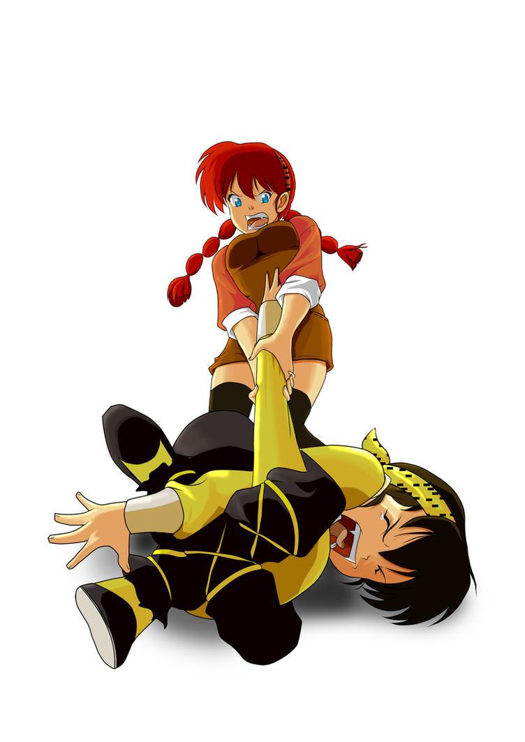 Yoiko and Ryoga sibling love by chou-roninx