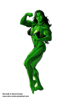 Commission She-hulk by chou-roninx