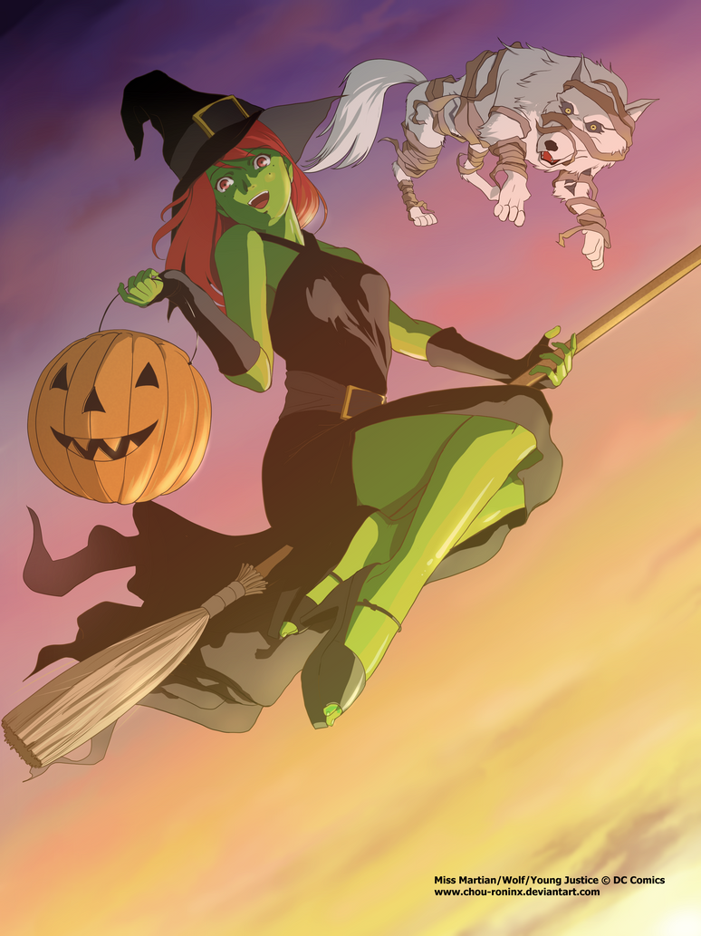 Happy Halloween from Miss Martian  by chou-roninx