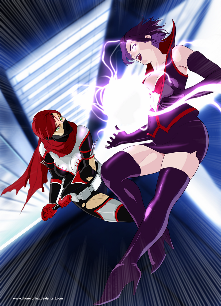Commission Red Lightning Vs Talisman by chou-roninx