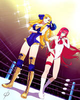COM Akiha and Luvia Tag Team