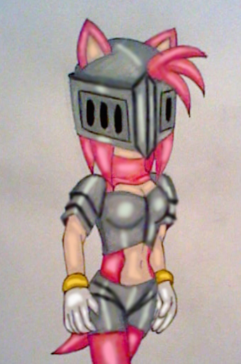 knightress Amy Rose by GothNebula